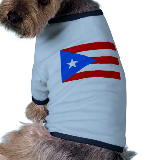 Large Puerto Rican Flag Dog Shirt