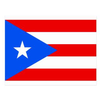 Large Puerto Rican Flag Postcard