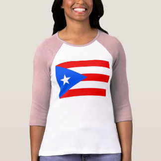 Large Puerto Rican Flag T-Shirt