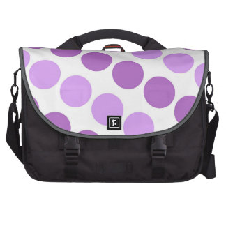 Large Purple and White Polka Dots Laptop Computer Bag