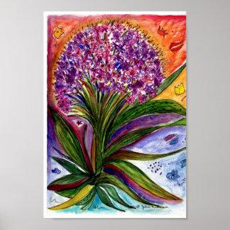 Large purple bouquet poster
