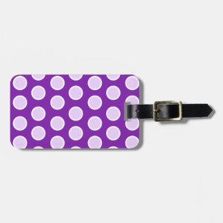 Large Purple Dots Luggage Tags