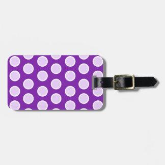 Large Purple Dots Luggage Tag