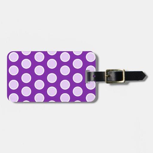 Large Purple Dots Luggage Tags