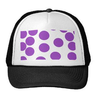 Large Purple Dots on White. Custom Trucker Hat
