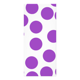 Large Purple Dots on White. Full Color Rack Card