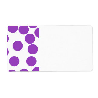 Large Purple Dots on White. Shipping Labels