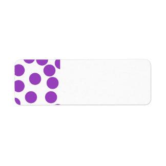 Large Purple Dots on White. Custom Return Address Labels