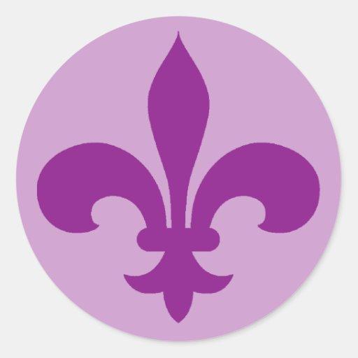 Large Purple Or Violet Fleur De Lis Stickers Zazzle