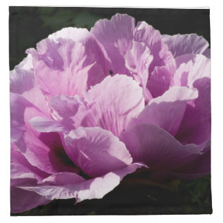 Large Purple Peony Flower Napkin
