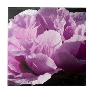 Large Purple Peony Flower Tile