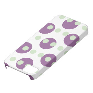 Large Purple Polka Dots iPhone SE/5/5s Case