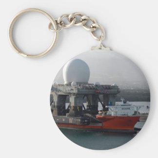 Large Radar Ship Basic Round Button Keychain