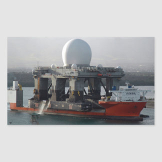 Large Radar Ship Rectangular Sticker