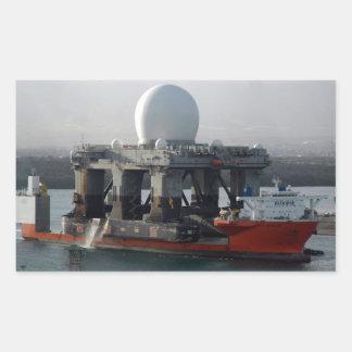 Large Radar Ship Rectangular Sticker