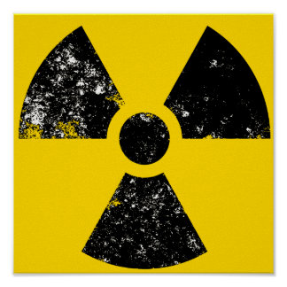 large radiation icon poster
