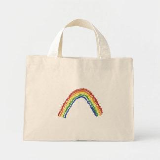 Large Rainbow Mini Tote Bag