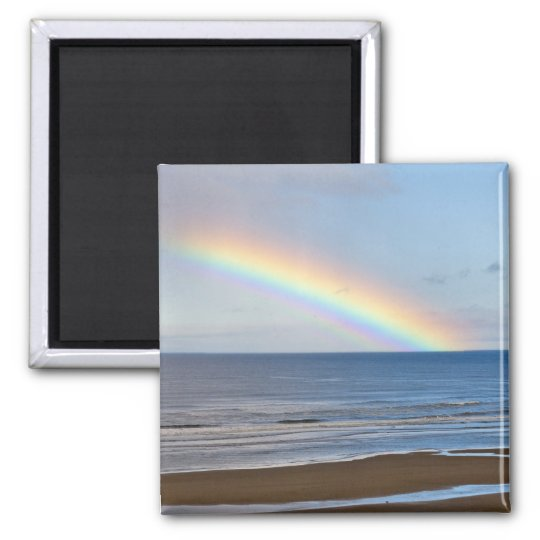 Large rainbow over the Pacific Ocean at Magnet
