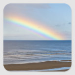 Large rainbow over the Pacific Ocean at Square Sticker