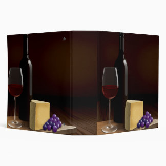 Large Recipe Binder With Delicious Wine and Cheese