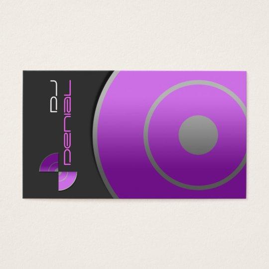 Large Record Purple DJ Business Card