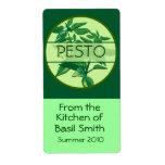 Large Rectangular PESTO Label