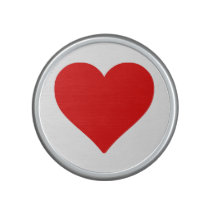 Large red and white heart shape love speaker