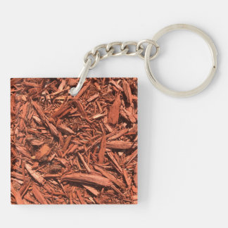 Large Red Cedar Mulch for Landcape Designer Keychain