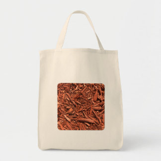 Large Red Cedar Mulch for Landcape Designer Tote Bag