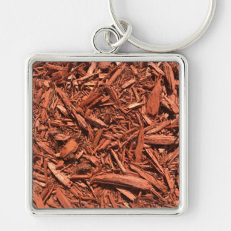 Large red cedar mulch pattern landscape contractor keychain