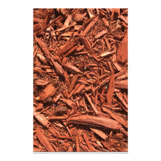 Large red cedar mulch pattern landscape contractor stationery