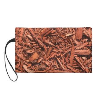Large red cedar mulch pattern landscape contractor wristlet purse