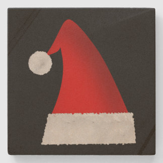 Large Red Christmas Santa Hat Stone Coaster