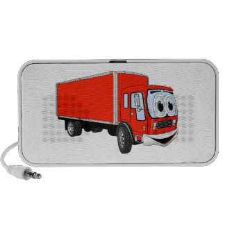 Large Red Delivery Truck Cartoon PC Speakers