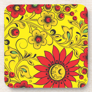 Large Red Flowers Coaster