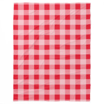 Large red gingham pattern fleece picnic blankets