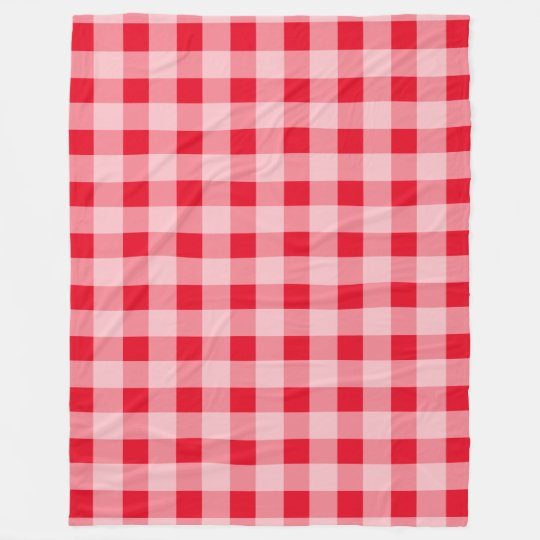Large Red Gingham Pattern Fleece Picnic Blankets Zazzle Enchanting Picnic Blanket Pattern