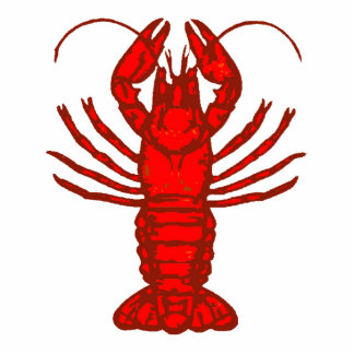 Large Red Lobster or Crayfish Photo Statuette