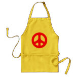 Large Red Peace Sign Apron