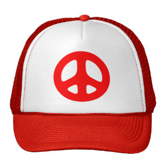 Large Red Peace Sign Hats