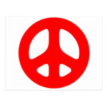 Large Red Peace Sign Postcard