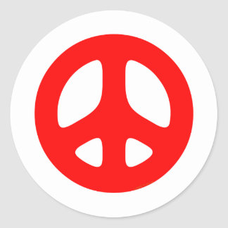 Large Red Peace Sign Sticker