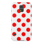 Large Red Polka Dots on White Galaxy S5 Cover