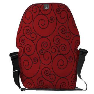 Large Red Spiral Messenger Bag