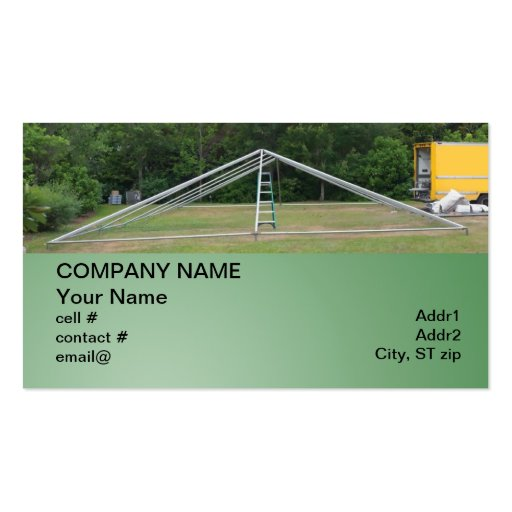 large rental party tent business cards