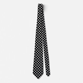 Large retro dots - black and white tie