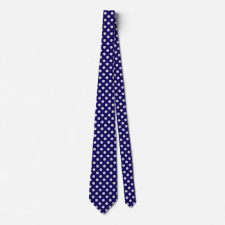 Large retro dots - navy and grey tie