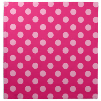 Large retro dots - pink on a hot pink background cloth napkin