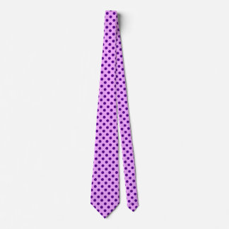 Large retro dots - purple and orchid tie