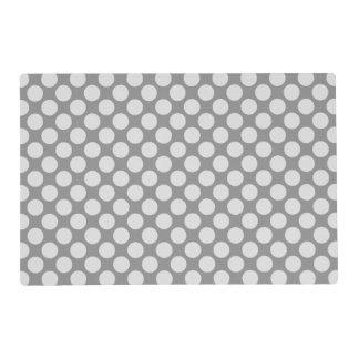 Large retro dots - shades of grey / gray placemat